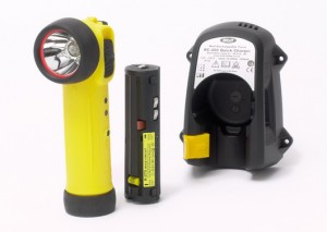 Rechargeable Torch with Charger and Mains Adaptor